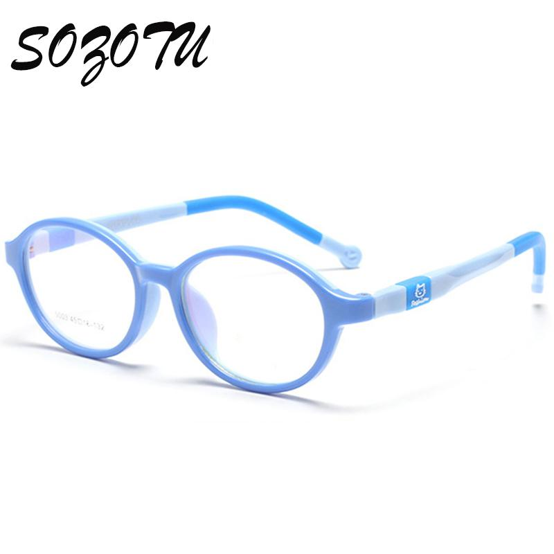 4088f6fdf4b Wholesale- SOZOTU Student Glasses Frame Children Myopia Prescription ...
