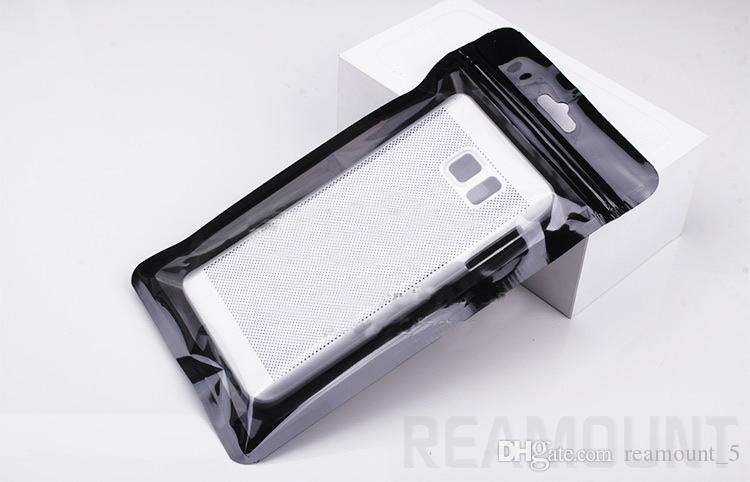 Neuankömmling kunststoff reißverschluss klar kleinverpackung tasche handy case für iphone 7 7 plus
