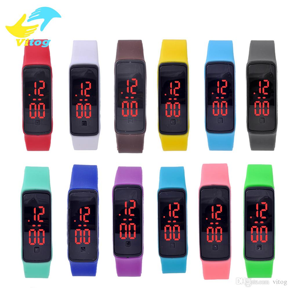 2016 New Arrivel High Quality Unisex Waterproof LED Silicone Smart Band Digital watch Sports Wrist Watch For Men Women