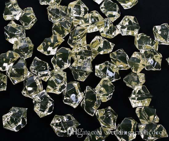 25*18 MM Wedding Favor Party Transparent Acrylic Crystal Gem Stone Ice Rocks Table Scatter Confetti Vase Filler 20kgs