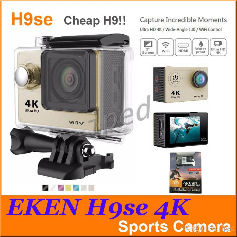 Cheap Ultra HD 4K Video Action Camera EKEN H9 H9SE 140 degrees Sports Camera 2 inch LCD Screen 1080p 60fps retail package