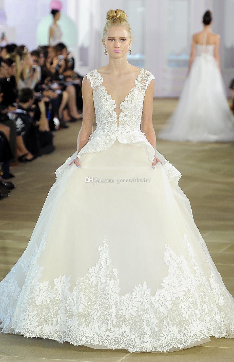 Peplum Overlay Ball Gown Wedding Dresses 2017 Sleeveless Textured ...