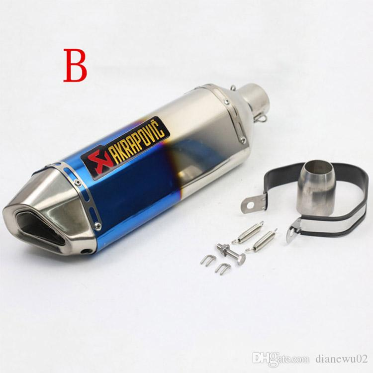 Universal 38-51mm Motorcycle Exhaust Muffler Pipe With Removable DB Killer Slip On Dirt Street Bike Motorcycle