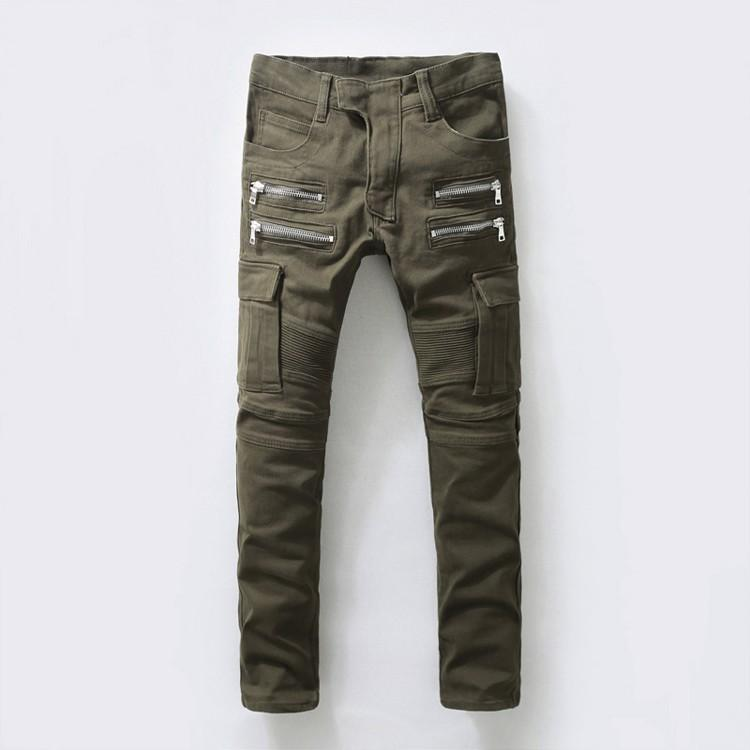 2017 Wholesale Us Size Zipper Up Cargo Pants Men'S Cool Army Green ...