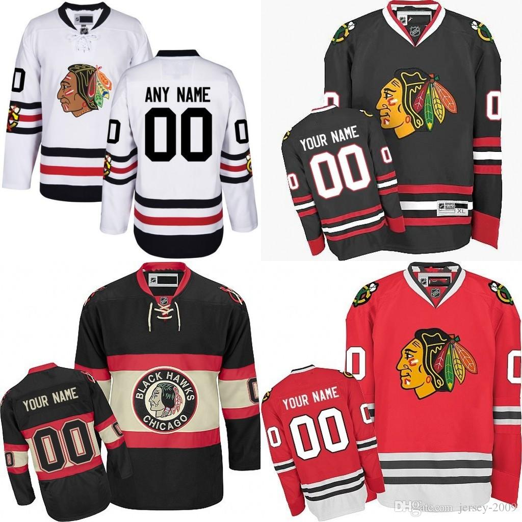 new products ed0ff 75634 2017 Winter Classic Premier Jersey Men s Chicago Blackhawks Custom Any Name  Any Number Ice Hockey Jersey Stitched size S-3XL