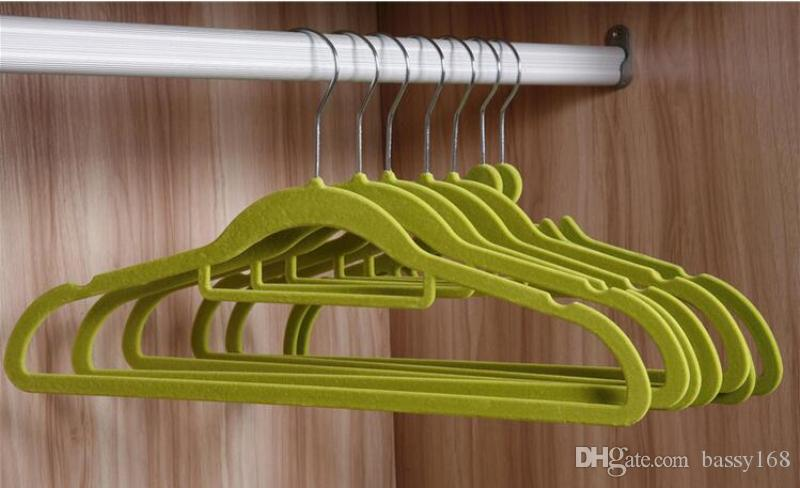 41cm Closet Velvet Hangers Functional Non-slip Thin Magic Flocking Space Save Storage Racks Home Office Shop Window Display