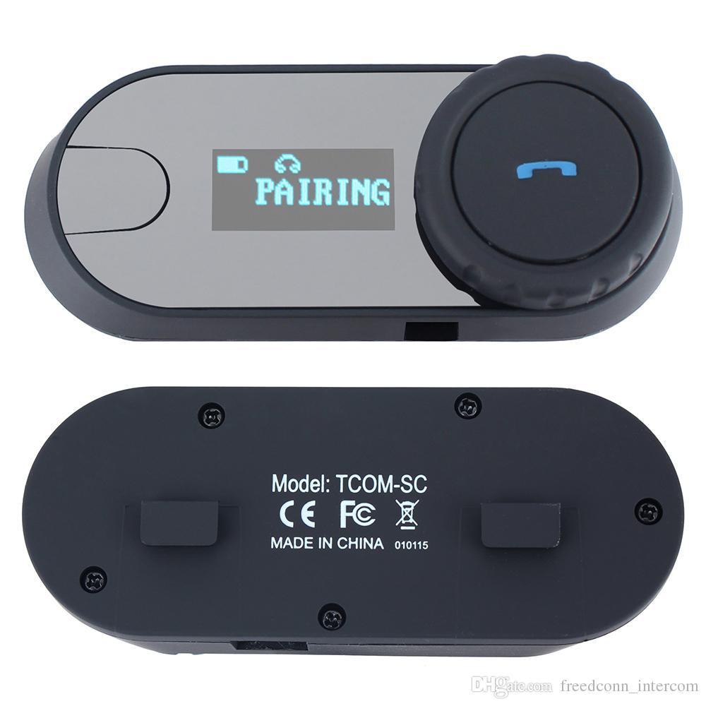 FreedConn / Set Nouvelle dernière version Bluetooth Casque de moto Intercom moteur Interphone Casque écran LCD Intercom FM Radio LCD