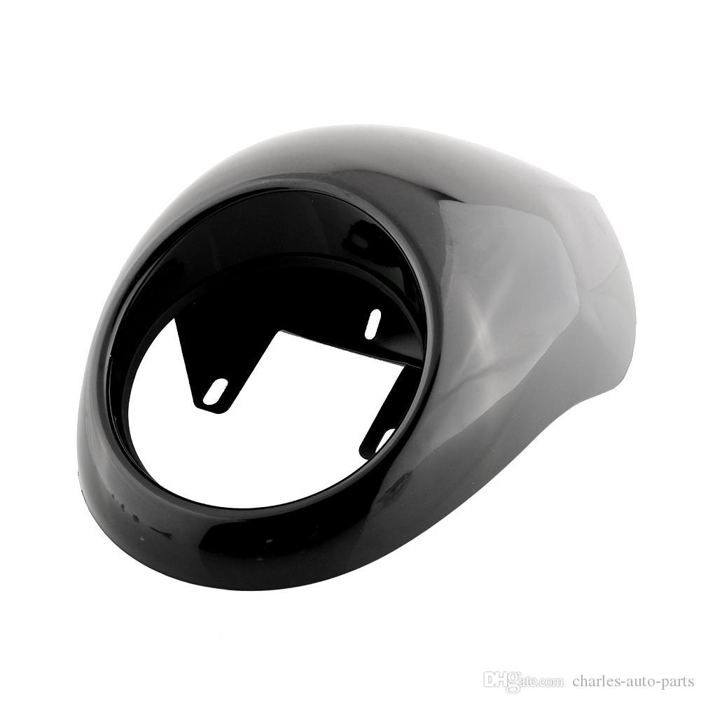 Evrensel Far Plastik Ön Visor Fairing Serin Maske Çerçeve Için Harley 883 XL1200 Dyna Sportster FX XL Motosiklet Araba Styling Far