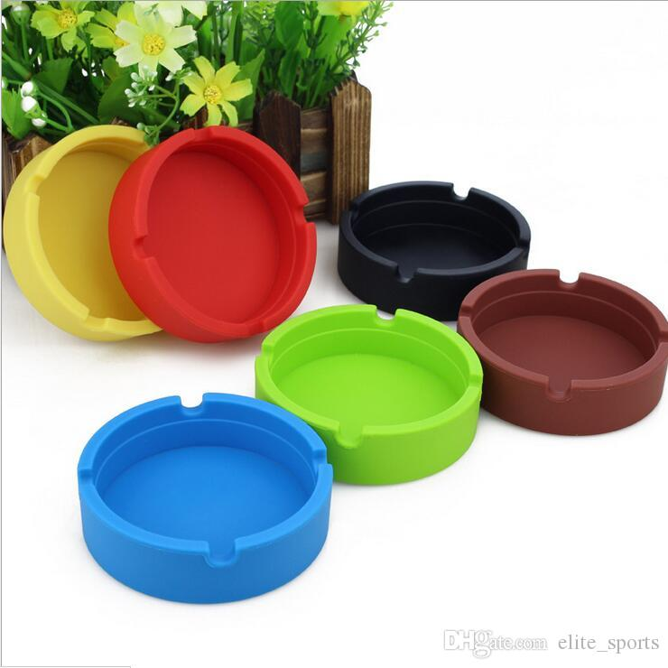 New Top Quality Cigarette Ashtray Eco-friendly Portable Ashtrays Shatterproof Silicone Ashtray Smoking Accessories YHG001