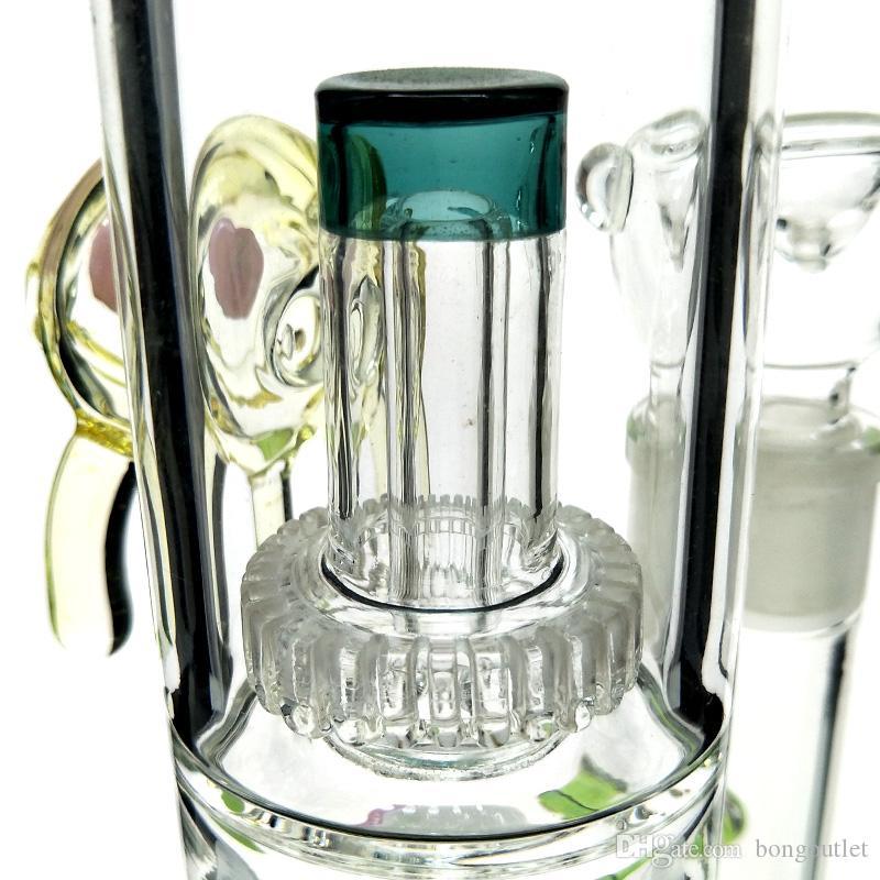 Nuovo Diritto disegno Glass Eye Glass Bong olio tubi di acqua gorgogliatore rigs tubi di acqua bong rig DAB il fumo