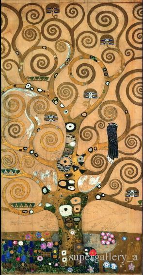 Gustav Klimt Tree of Life Giclee Canvas Print Paintings On High ...
