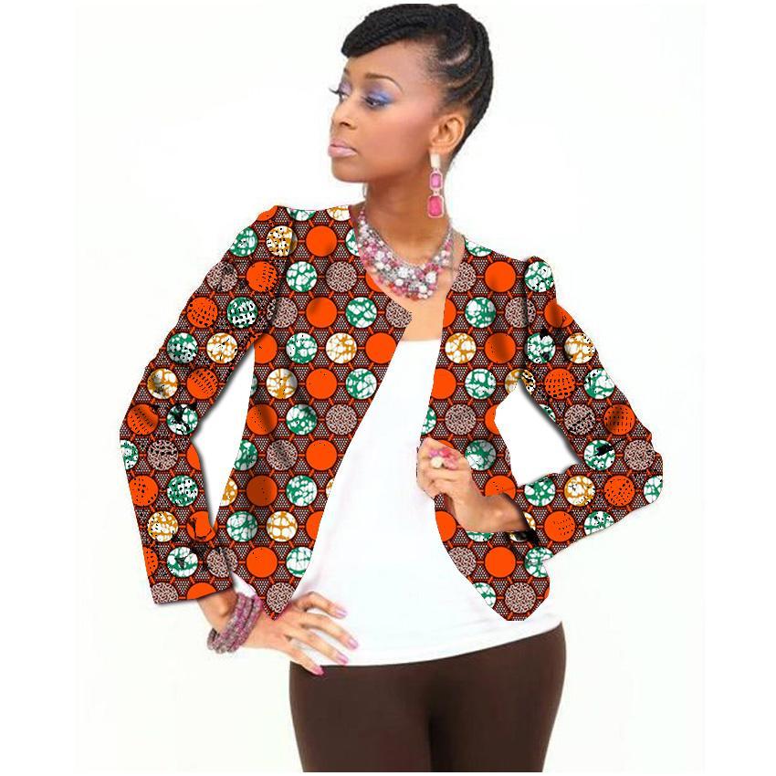 fd6046a0795 Atacado-manga completa moda feminina imprimir casaco africano roupas  dashiki personalizado senhoras casaco curto personalizado padrão de roupas  áfrica
