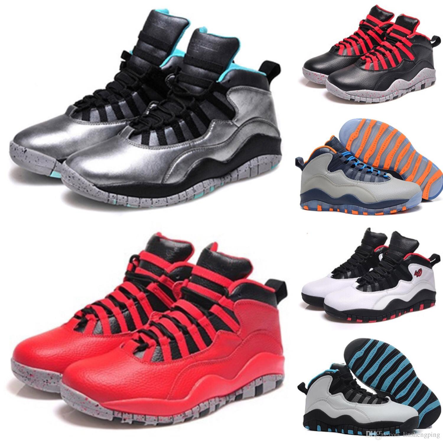 new concept 13ed4 25fce HOT 10 10S Men Shoes Chicago Double Nickel Lady Libery Bull 10s X Men  Basketball Shoes Athletic Sports Sneaker