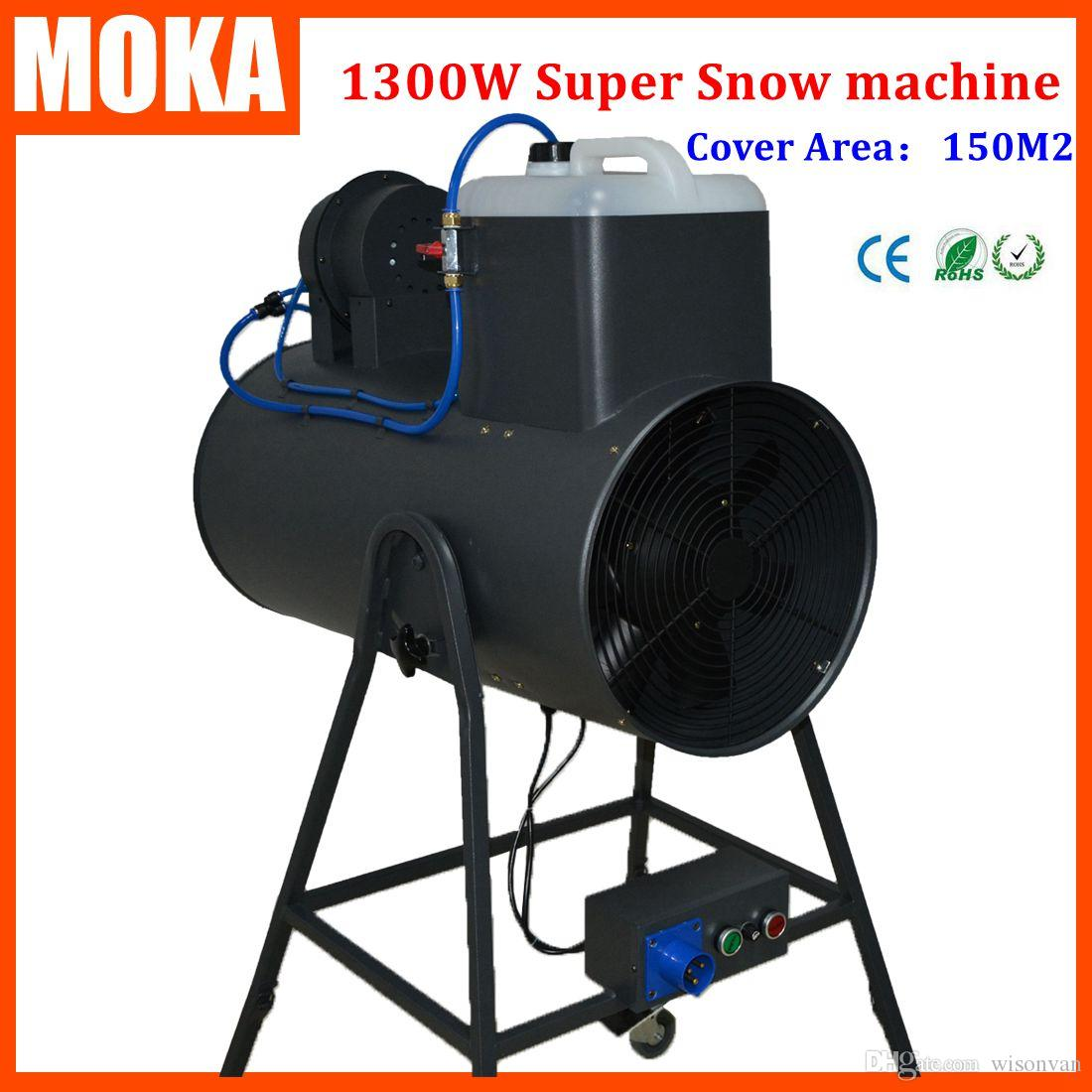 2018 1300w snow machine snowstorm machine artificial snow maker snow blower machine christmas projector for disco dance club party from wisonvan