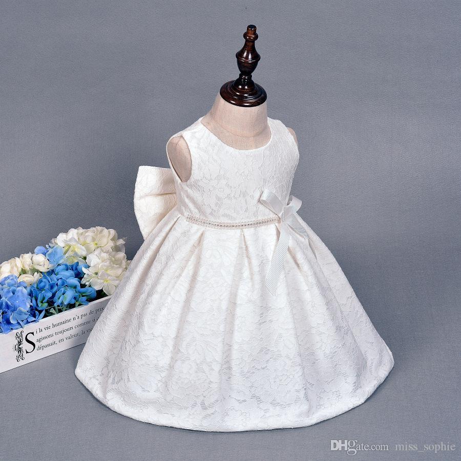 adb6205c6 Compre Outlet De Fábrica Niños Vestidos De Novia Para Niñas Princesa  Vintage Vestido De Bautizo De Encaje Para Niña Primera Comunión Desgaste  Formal ...