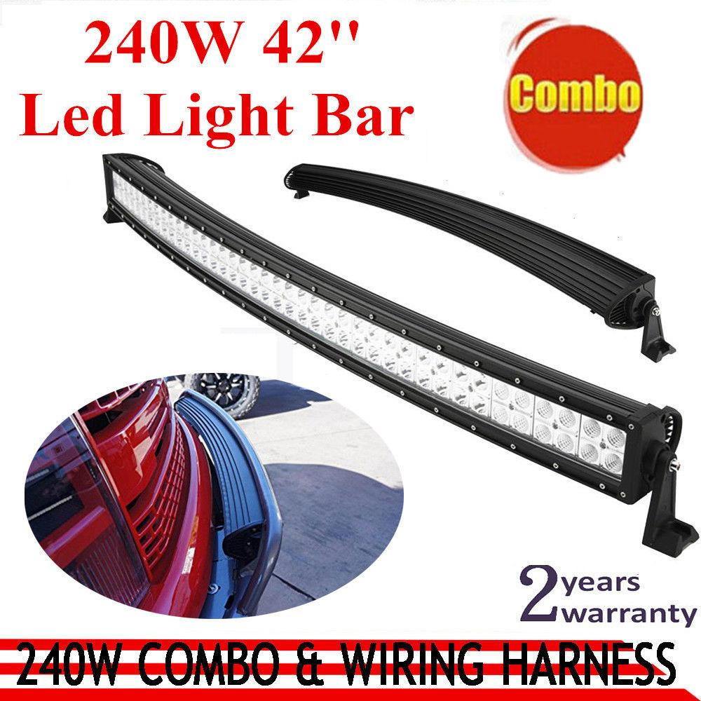 Wholesale 240w Curved Led Work Light Bar Offroad Working Light Suv