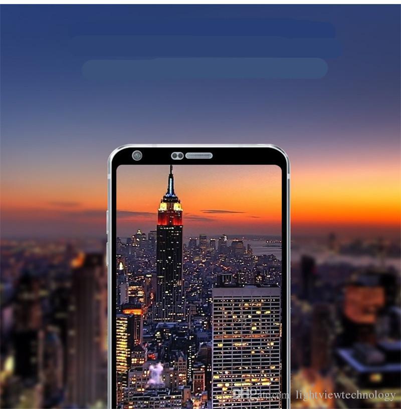 LG Stylo 5 3 4 Plus G8 Q6 Aristo 2 ZTE Blade Zmax Pro Max XL Prestige 2 Vetro temperato Schermo intero Coperto antideflagrante con pacchetto