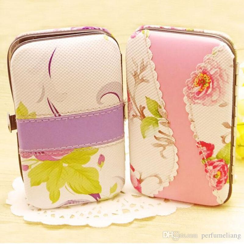 7 1 Rattan Çiçek Baskı Tırnak Makası Makas Seti Kadın Pedikür Manikür Seti Düğün Hediyeleri Şekeri ZA4444