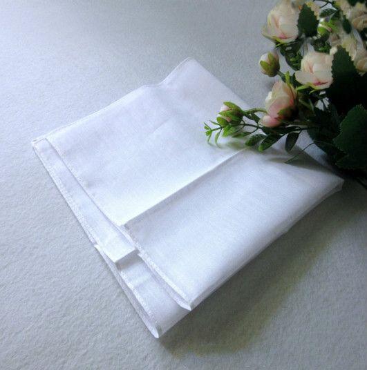 27 * 28 cm uomo bianco fazzoletti da taschino in raso di cotone tavolo fazzoletto tinta unita super morbido tasca più piccola piccoli quadrati decorazione di cerimonia nuziale n2