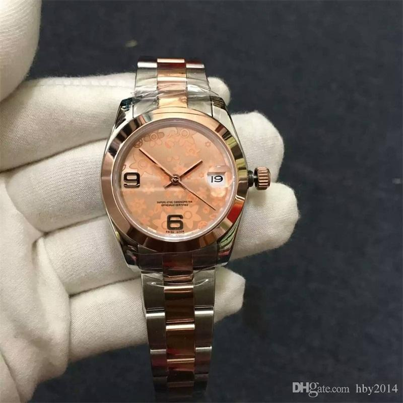 cd508c9caed 2018 AAA Luxury Brands Womens Automatic Mechanical Watches Fashion Rose  Gold Stainless Steel Ladies Dress Watch Girl Best Gift Wristwatches  Ingersoll ...