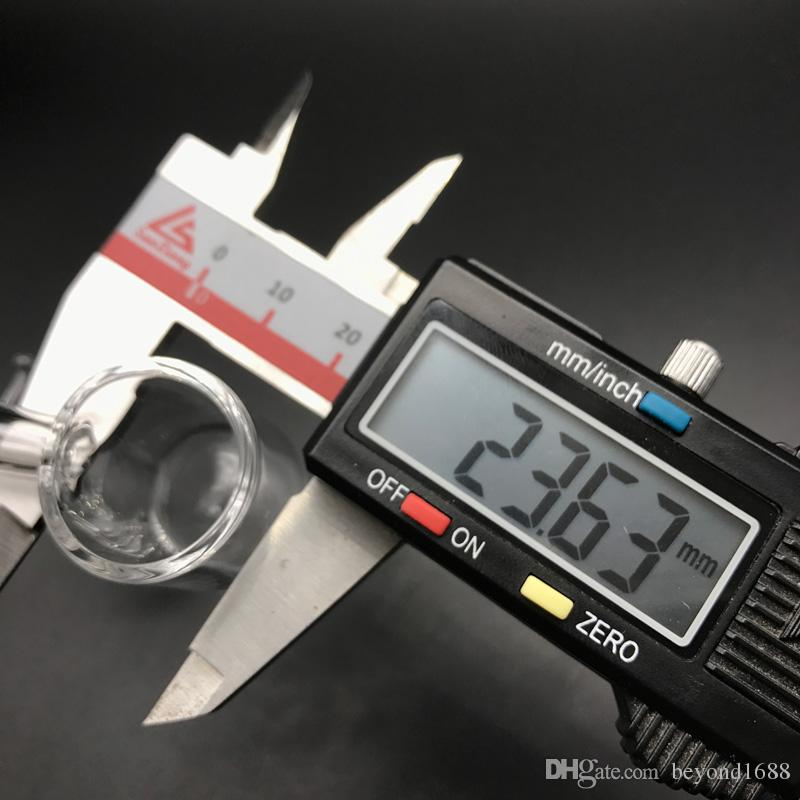 16mm 20mm 24mm Cuarzo Enail Banger con gancho hembra 10mm 14mm 18mm Cuarzo E Uñas Banger Clavos para calentador de bobina de vidrio Bongs