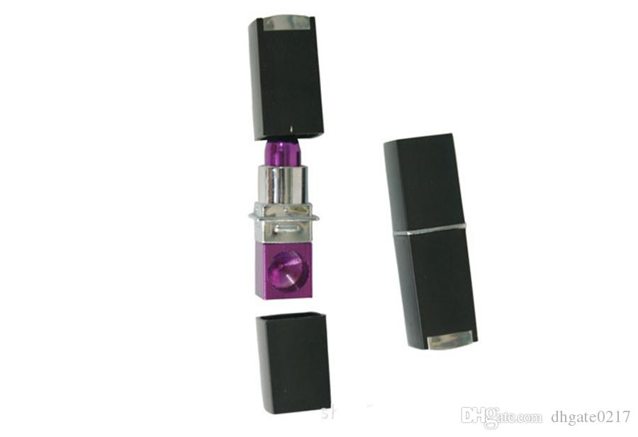 FASHION Grils Lipstick Smoking Tobacco Pipes Cigarette Metal Plastic Pipes fashion magic herb mini portable cheap pipes