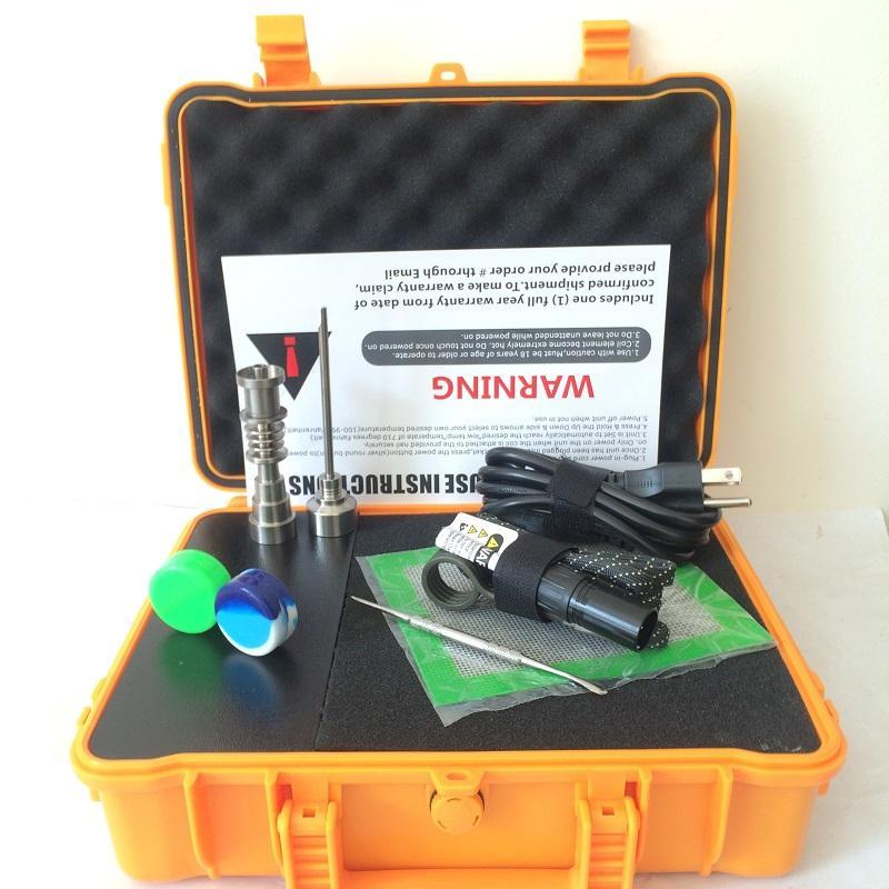 2016 pelikan E D elektrikli dab tırnak kitleri bong titanyum domeless Gr2 çivi PID TC dijital dabber kutusu dab aracı carb kap