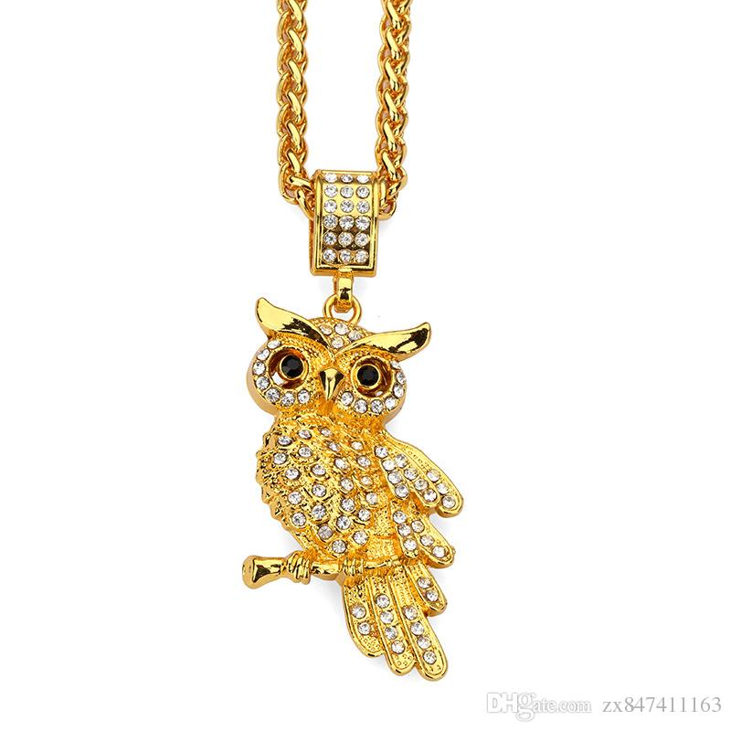 Wholesale Latest Design Hip Hop Jewelry Men Women Owl Pendant ...