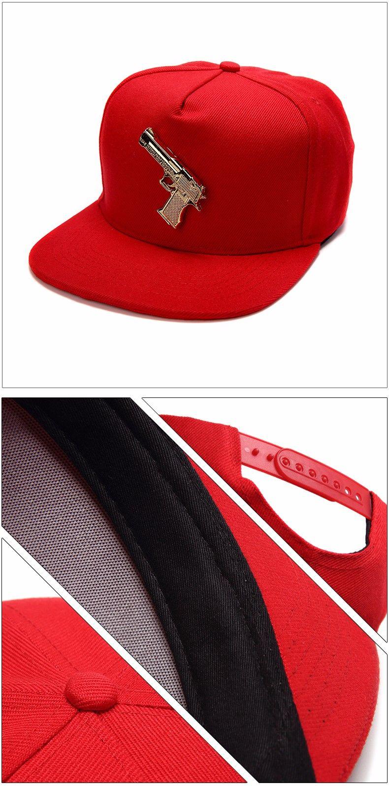 2016 Mode Hysteresen Gorras HipHop Baseball Hüte Coole Gun Logo Baumwolle Adustable Caps Casquette Punk Stil Für Frauen / Männer