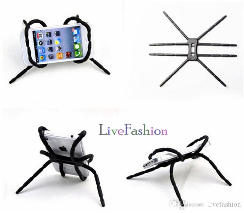 Universal Smart Phone Car Holder Stand Supports Spider Design Mobile Phone Mounts Stand For Iphone 6 7 plus Stent For Samsung S6 Edge S5