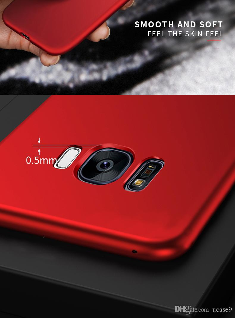 2018 new design 360 full body for S8 S8 plus s9 s9plus Note8 TPU+PC case 2 in 1 Matte Back cover silicone front cover PC for s7 s7edge