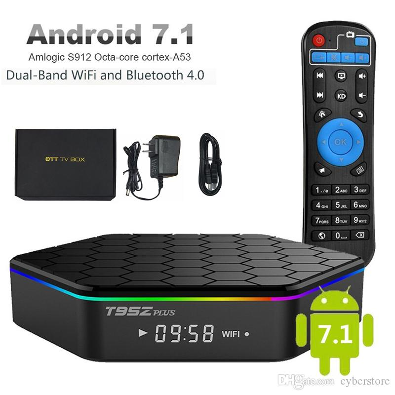 Android 7 1 Smart TV Box T95Z Plus Octa Core Amlogic S912 Set Top Box 2G  16G Support Wifi 4K Streaming Media Player