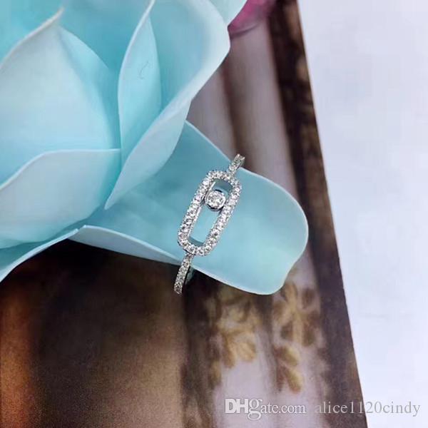 Новейшие Ювелирные Изделия Стерлингового Серебра Ручной Работы 925, может двигаться камень Кольцо Мода Дизайн Женщины Серебряные Ювелирные Изделия Высокого Качества для лучшего подарка