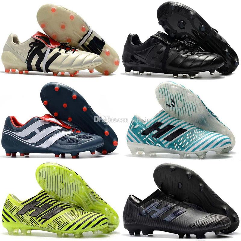 640cbbf25cbfdf 2019 New 2018 100% Original Nemeziz Messi 17.1 FG Soccer Shoes Mens  Football Shoes Nemeziz 17+ 360 Agility FG Soccer Boots Soccer Cleats From  Cherin