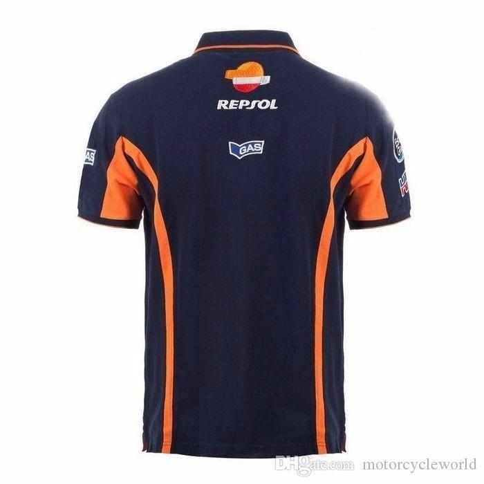 2017 2017 Repsol Gas Moto GP Équipe Polo Shirt Racing Vêtements Moto T-shirt De Moto
