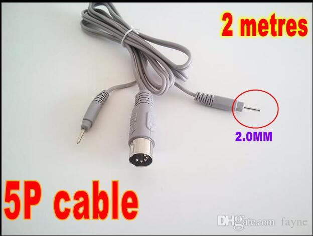 5cores des dizaines EMS Électrique Fils Électrodes Connecteur Câbles pour Micro Courant Électrode Stimulation Machine 2M avec 2 Broches