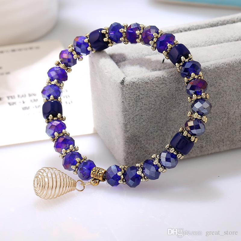 Hot sale Natural crystal bracelet candy crystal beads hand string crystal jewelry FB541 a Link, Chain