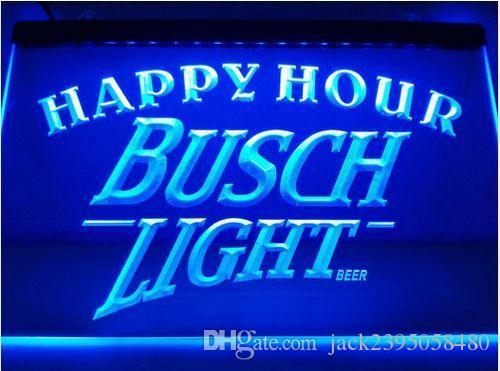 2019 Busch Light 2 Size Happy Hour Bar Beer Pub Club 3d