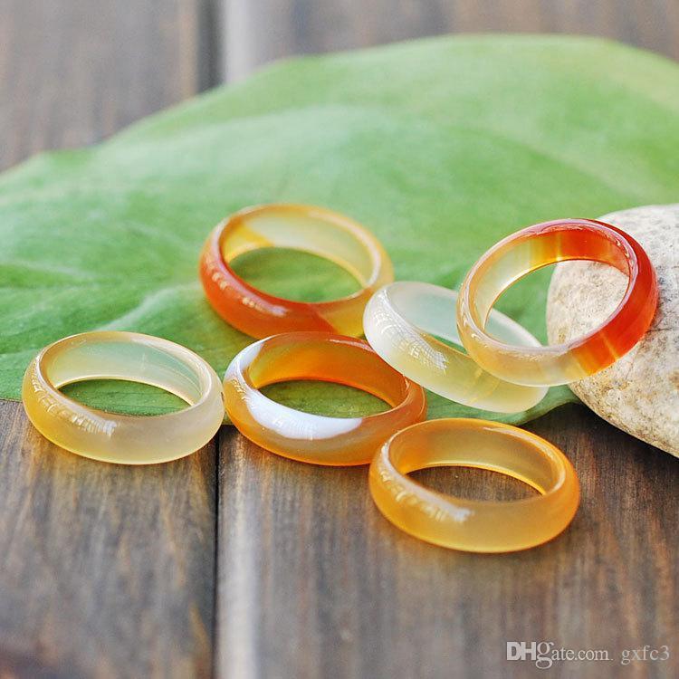 2017 New Style Noir Jaune rouge vert Quatre couleurs Jade Ring pour hommes et femmes Couples ring