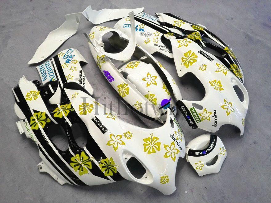 Carénage en plastique d'ABS de marché des accessoires pour Suzuki GSX600F Katana 2003-2006 GSX 600F 03 04 05 06 bleu flocon de neige Jeu de carrosserie