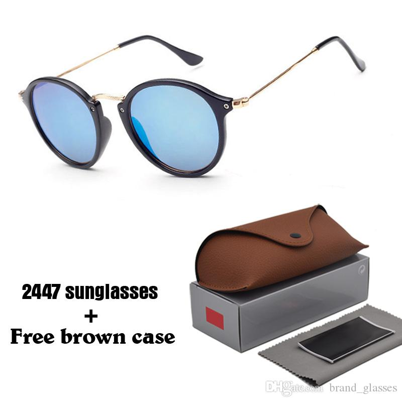 45a925c813ee Wholesale Brand Designer Classic Round Sunglasses Men Women Vintage Retro  Sun Glasses Women Driving Metal Eyewear With Free Cases And Box Boots  Sunglasses ...