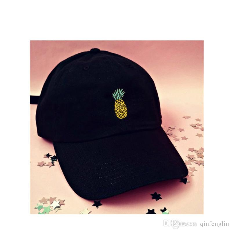 Cute Pineapple Printing Cotton Baseball Cap Women Snapback Hip Hop ... f599ca9a903