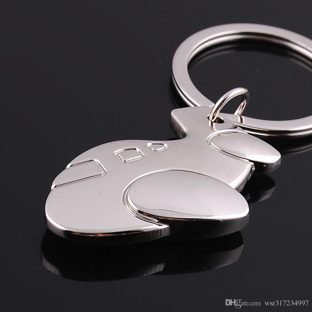 Novo caming pouco de metal chaveiro da cadeia de aeronaves de moda titular do anel chave encantador bolsa encantos fábrica preço de atacado frete grátis