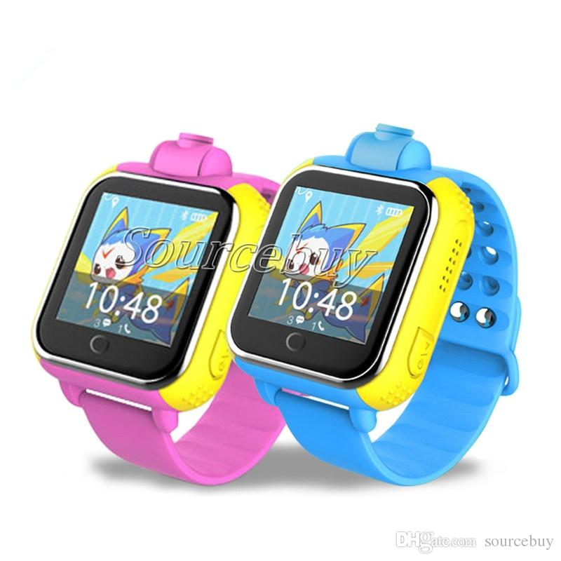 Wifi Smart baby Watch Q730 Camera GPS Location Colorful Touch Screen Tracker Smartwatch for kids safe child SOS Monitor by IOS Android Phone