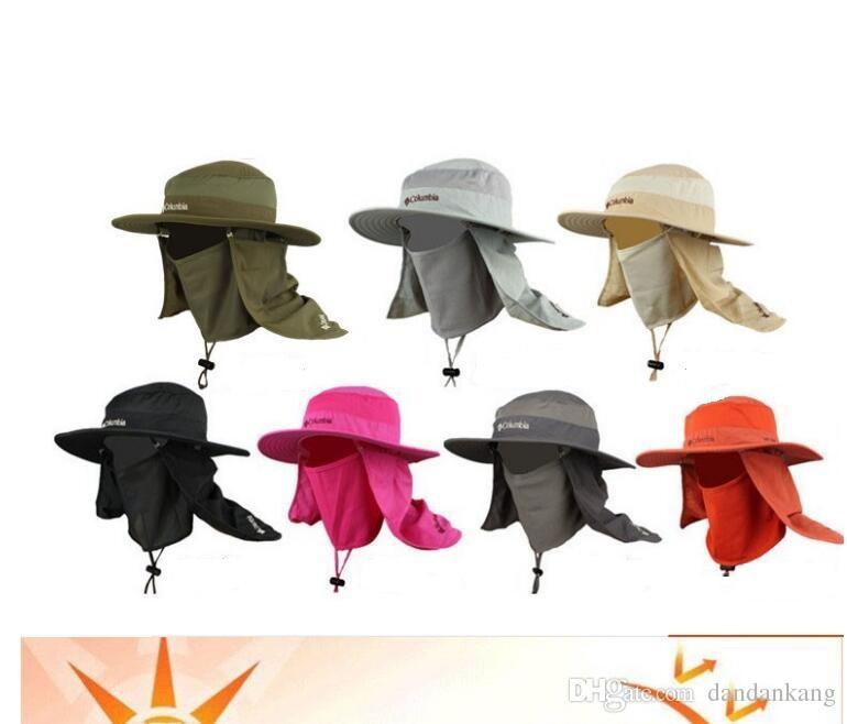 Outdoor Anti-UV fishing hat summer Anti-mosquito mosquito net cap fisherman hats gym sport climbing sun hat bike cycling sport caps