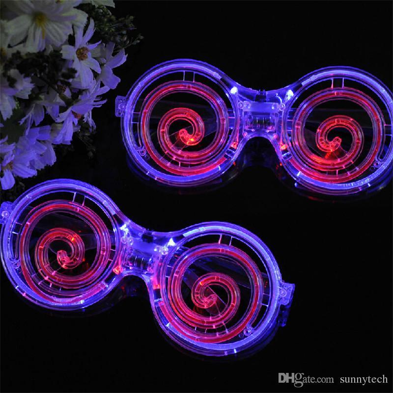 Créatif LED Lumière Lunettes Lollipop Clignotant Masque En Verre Pour Enfants Halloween Festival De Noël Cadeau Partie Décoration Fournitures ZA4544