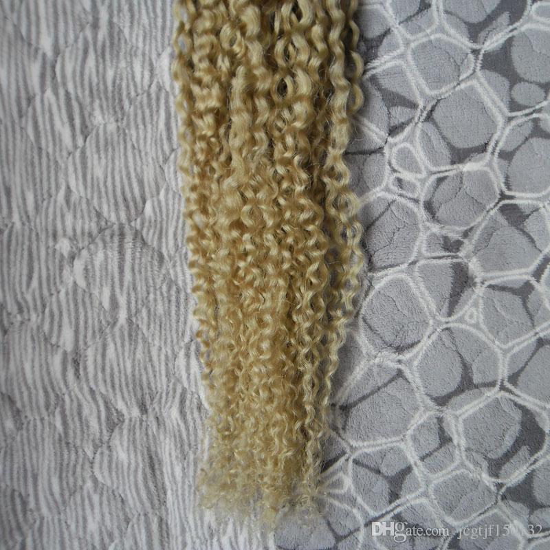 Ombre Weave Blonde T1B/613 Malaysian Virgin Hair Kinky Curly Weave Human Hair 100g Malaysian Kinky Curly Virgin Hair