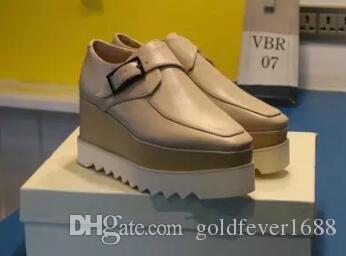 new Stella Mccartney women Shoes Light Purple Leather Wedge Platform Elyse Nina Platform