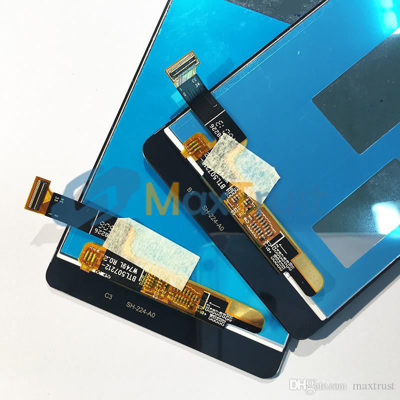"""Top Quality 5.0"""" For Huawei Ascend P8 Lite LCD Display+Touch Screen Digitizer Assembly Module Black White Gold Color"""