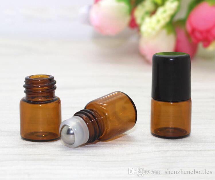 Heißer Verkauf 1ML 2ML 3 ml 5 ml 10 ml Glasrolle auf Flasche mit Edelstahl-Rollenklein Ätherisches Öl-Flasche Besten Verkauf in USA